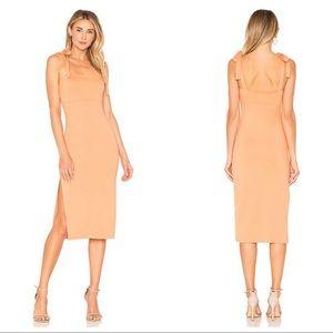 Privacy Please Athens Apricot Orange Midi Dress